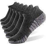 6 Pares Calcetines Running Para Hombre Mujer - Deporte Calcetines Cortos de Algodón Con Amortiguación Respirable Running Ciclismo (6 Pares Gris, EU 43-47)