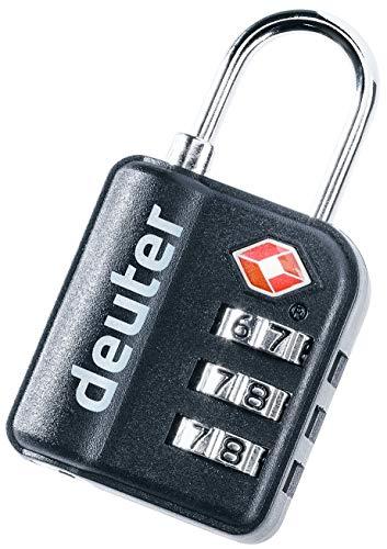 Deuter Unisex– Adult's TSA Pad Shackle Lock, Black, standard size