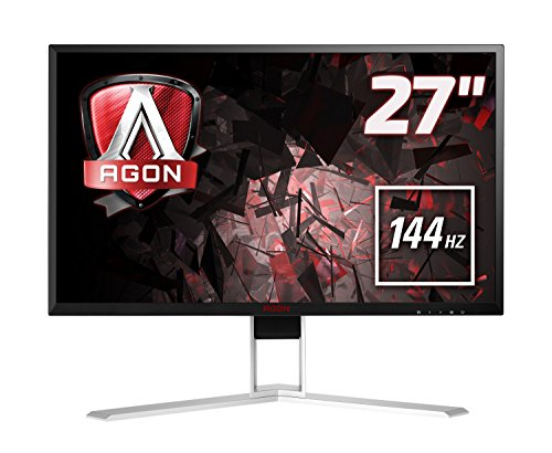"AOC AGON AG271QX Monitor Gaming da 27"", QHD, 2560 x 1440, 144 Hz, 1 msec, Speaker, D-Sub, 2 X HDMI, DP, 4 Porte USB, Nero"