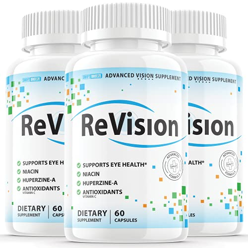 (3 Pack) Revision Eye Supplement Pills Advanced Vision 2.0 Eye Care Complex Vitamin Capsules Pro (180 Capsules)