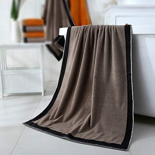 weichuang Elegante toalla de baño de algodón para adultos, absorbente y transpirable, toalla de baño de encaje liso, toallas de baño de secado rápido (color: gris, tamaño: 70 x 140)