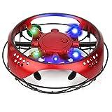 Mini Drone a Induzione Droni Manuali per Bambini Adulti Luce LED Integrata Flying Ball Drone Regalo di Compleanno di Natale del Giocattolo Dell'aereo Volante di Levitazione per i Bambini(Rosso)