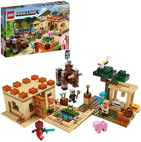 LEGO Minecraft The Illager Raid 21160 Building Toy Action Playset for Boys and Girls Who Love product image