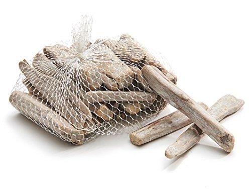*NaDeco Treibholz weiß im Netz mit 0,5kg Deko Holz Schwemmholz Treibholz zum Basteln Deko Treibholz Dekoholz*