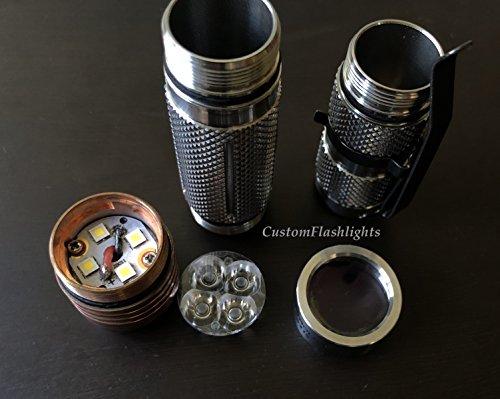 BAZAAR Astro Lux s41s en acier inoxydable 4 x Nichia 219 C/XP-G3/G2 A6 1600LM Mini lampe de poche LED