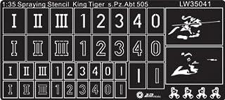 Alliance Model Works 1:35 Stencils King Tiger of s.Pz.ABT 505 Detail #LW35041