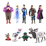 GSDGSD 9 unids/Set Frozen2 Snow Queen Elsa Anna PVC Figuras de acción Olaf Kristoff Sven Anime muñecas figuritas Juguetes para niños Regalos