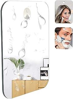 Miroir de Rasage pour Salle de Bain et Douche avec en Prime Un Crochet adhésif Amovible Longue durée, résistant aux Chocs,...