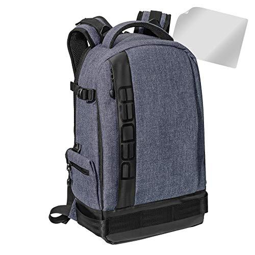 PEDEA DSLR-Kameratasche Fashion mit Displayschutzfolie 0012 (Rucksack, grau)
