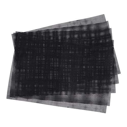 EXCEART5PCS 메쉬 플라스틱 캔버스 시트 자 수 NEEDLEPOINT 캔버스 아크릴 그림 크로스 스티치 DIY 크로 셰 뜨개질 프로젝트