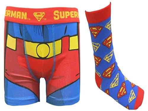 Superman Junge Boxershorts und Socken Geschenk-Set Unterhosen Unterwäsche 2-3 Jahre