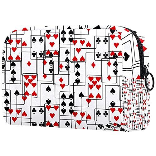 Neceser de viaje, bolsa de viaje impermeable de alta calidad con cremallera mejorada Poker 18,5 x 7,6 x 13 cm