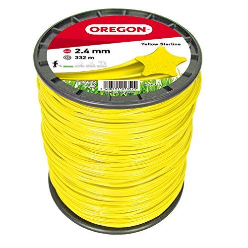 Oregon 69-455-Y Yellow Star Rasentrimmerfaden / Draht für Rasentrimmer und Freischneider, 2,4 mm x 332 m