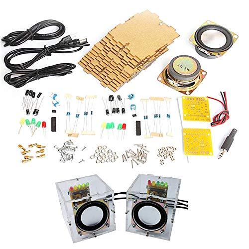 Monland Kit de Altavoces DIY con Estuche 3Wx2 Amplificador Altavoz ElectróNica DIY Entrenamiento Piezas de Ensamblaje de Soldadura: Amazon.es: Electrónica