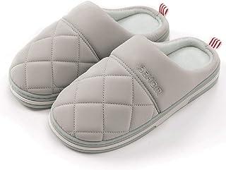 BaiMoJia Pantofole Donna Uomo Scarpe di Cotone Inverno Antiscivolo Morbido Comode Ciabatte Caldo