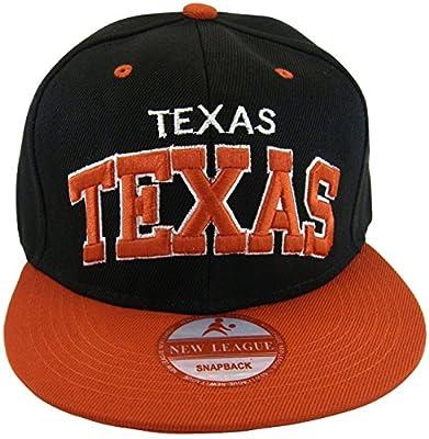 Texas Adult Size Adjustable Snapback Baseball Caps