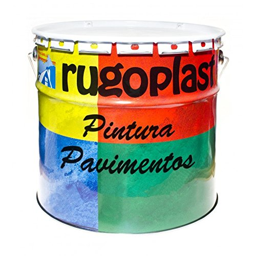 Pintura monocomponente para suelos y garajes (hormigón, morteros de cemento y derivados) al clorocaucho alta dureza varios colores (15L, Gris) Envío GRATIS