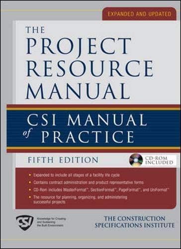 The Project Resource Manual CSI Manual of Practice product image