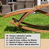 Relax Schaukelstuhl Rio, Relaxliege mit Armlehnen, Gartenmöbel aus vorbehandeltem Holz - 5