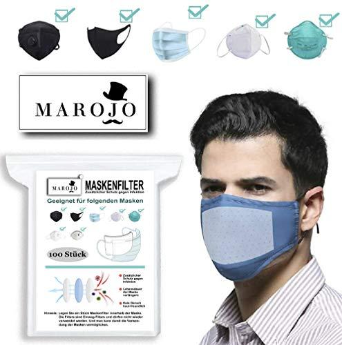 MAROJO 100 Pack CPAP Filter Einwegfilter aus Vliesstoff Atemschutzfilter Universal Ersatz Mundschutzfilter Mask Filter