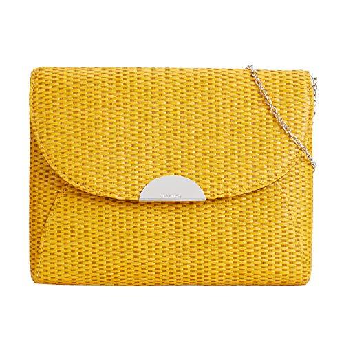 Monerdero amarillo xl para mujer con cierre de solapa