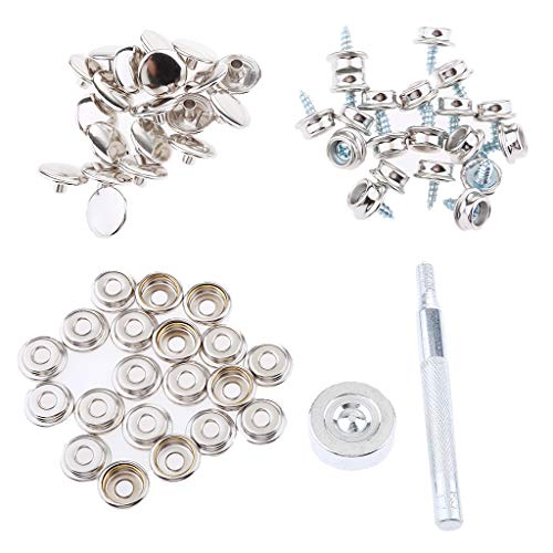 Générique 152Pcs Toile Toile Snap Cover 3/8 '' Vis Stud Button Socket Fixation Kit