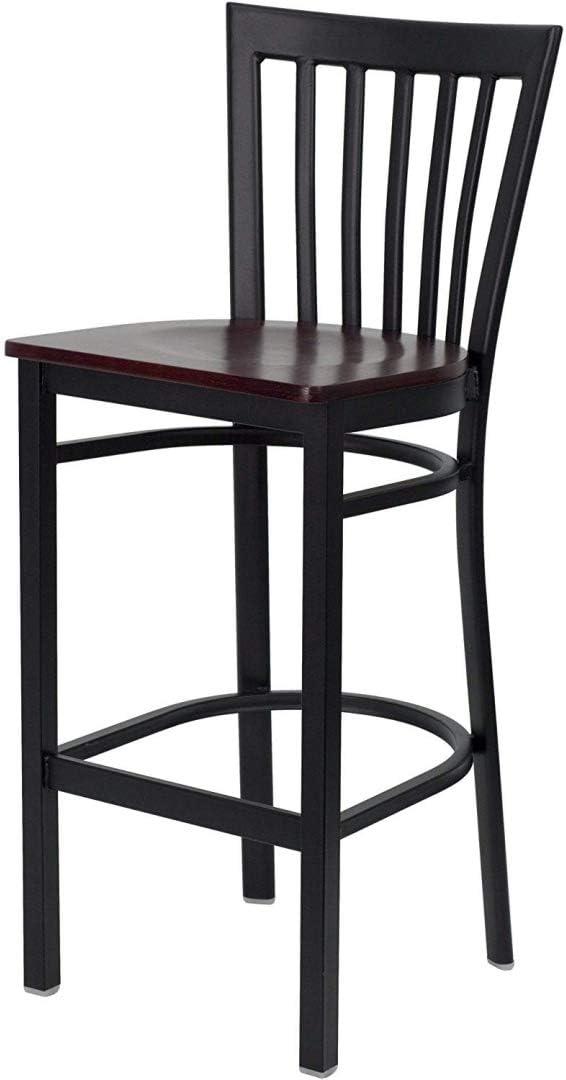 Modern Limited price Style Dining Bar Stools Design Frame Metal Max 85% OFF Back Vertical