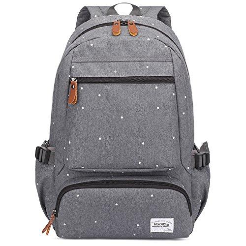 KAUKKO Coolest Men Oxford Backpack Water Repellent Backpacks for Outdoor & Hiking & Camping Daypack (Grigio)