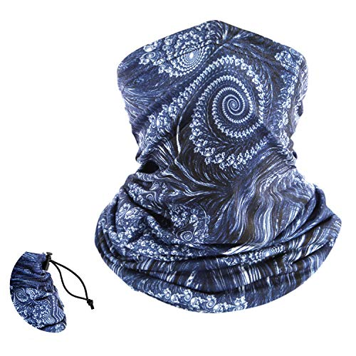 Neck Gaiters Face Cover Scarf Bandanas UV Protection with Elastic Adjustable Rope, Summer Balaclava Headwear for Men Women 810