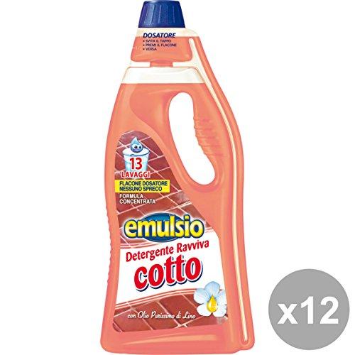Emulsio Set 12 Pavimenti Ravviva Cotto 750 Ml. Detergenti casa