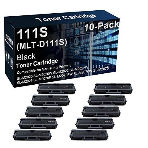 Paquete de 10 cartuchos de tóner compatibles 111S MLT-D111S de alto rendimiento para impresoras Samsung Xpress SL-M2020W SL-M2022W SL-M2060 SL-M2070FW (negro)
