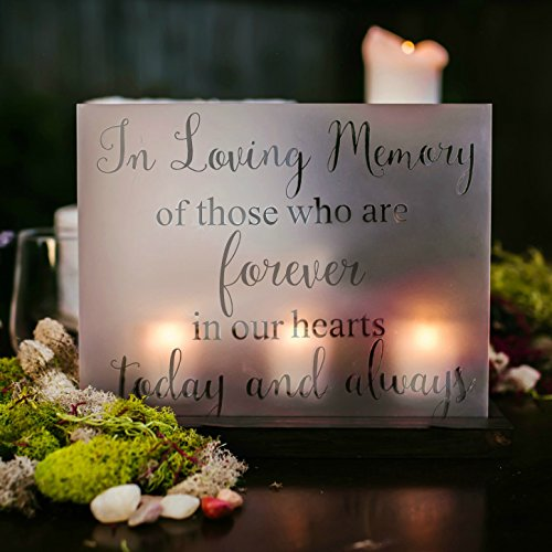 Wedding In Loving Memory Candle Sign Memorial Decor - 8x10 Inches