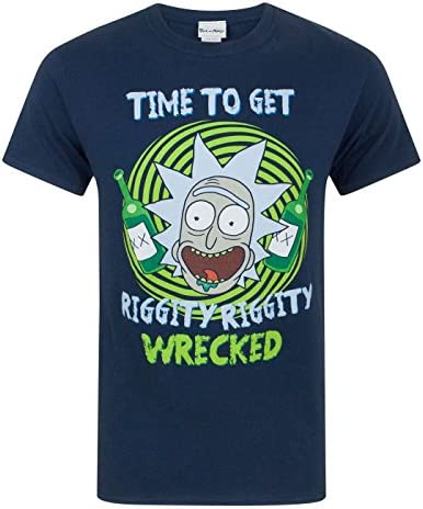 Rick and Morty - Camiseta Modelo Riggity Riggity Wrecked para Hombre