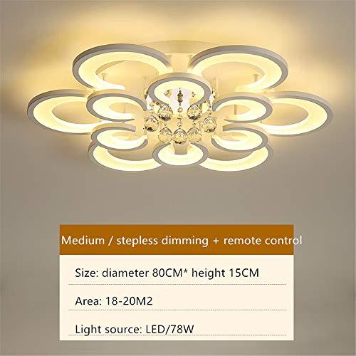 LED acryl plafondlampen luxe kristallen lichten eenvoudige moderne plafondlampen kunst creatief ronde woonkamer verlichting warme slaapkamer lampen