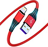 iPhone Charger Cable 2M 2Pack [MFi Certified],CABEPOW Long Lightning Cable 2m High Speed Charging iPhone Cable Lead Compatible with iPhone 11 XS Max X XR 8 7 6s 6 Plus SE 5 5s 5c, iPad, iPod-Red