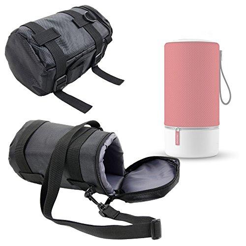 DURAGADGET Housse/Etui de Protection pour Libratone Zipp Mini Enceinte Portable sans Fil sans Fil – Nylon Noir/Gris