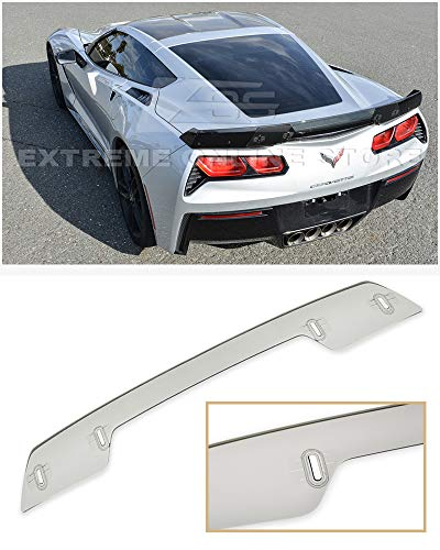 Extreme Online Store Replacement for 2014-2019 Chevrolet Corvette C7   Z06 Z07 Stage 3 Style Rear Trunk Center Wickerbill Spoiler (Light Tinted)