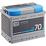 ECTIVE 70Ah 12V AGM Batterie DC 70 VRLA Versorgungsbatterie in 7 Varianten: 70Ah - 230 Ah (wartungsfrei)