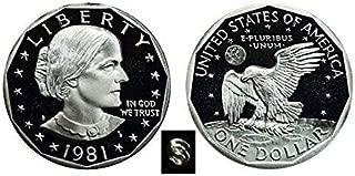 1981 S Susan B. Anthony Type 1 $1 Proof US Mint