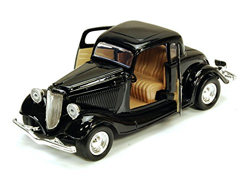 1934 Ford Coupe, Black - Motormax 73217 - 1/24 scale Diecast Model Toy Car