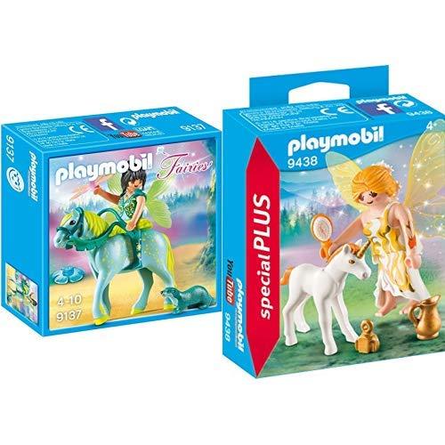 Playmobil 9137 - Wasserfee mit Pferd Aquarius &  9438 - Sonnenfee mit Einhornfohlen Spiel
