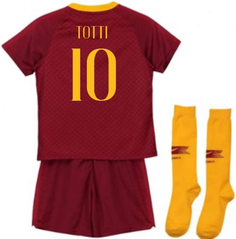UKSoccershop 2018-2019 AS Roma Home Nike Infants Kit (Francesco Totti 10)