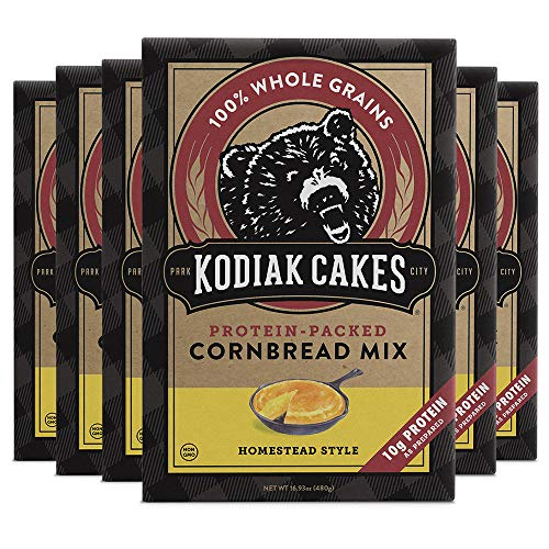 Kodiak Cakes Power Bake, Protein Cornbread Mix, 16.93 Ounce (Pack of 6)