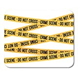 "Emvency Mouse Pads Science Crime Scene Yellow Tape Police Line Do Not Cross Cartoon Flat Justice Mousepad 9.5"" x 7.9"" for Laptop,Desktop Computers Accessories Mini Office Supplies Mouse Mats"