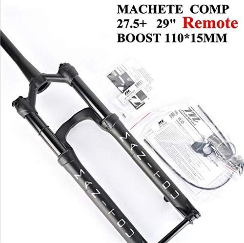 ZSR-haohai Bicicleta Suspensión Tenedor Manitou Machete Boost Comp 110 * 15 mm a 27.5er 29Inche Tamaño de Aire Montaña MTB MTB Fork (Color : 27.5 Remote)