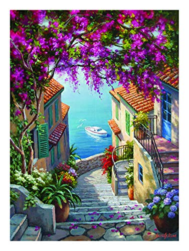 Anatolian Jigsaws 1000 pieces for adults - 1000 piece jigsaw puzzles for adults STAIRS TO THE SEA is ideal as a gift for the whole family and the jigsaw puzzle is made of ESKA BOARD