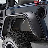 Tidal Rear Fender Flares Flat Styles Steel Fit for 07-18 Wrangler JK
