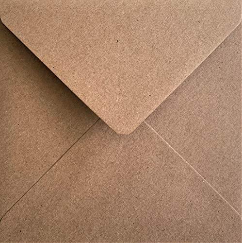 100x carré Kraft Fleck enveloppes–15,2x 15,2cm/155mm x 155mm par Canneberge