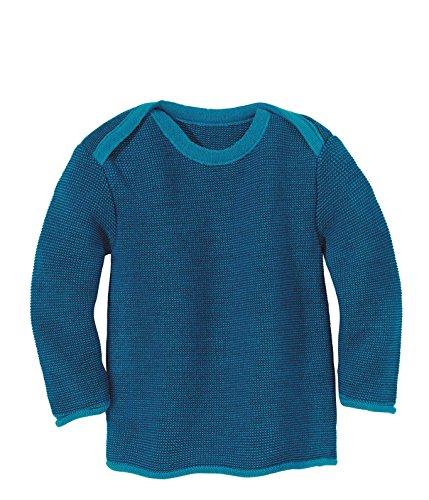 Disana 31302XX - Melange-Pullover Wolle blau, Size / Größe:74/80 (6-12 Monate)
