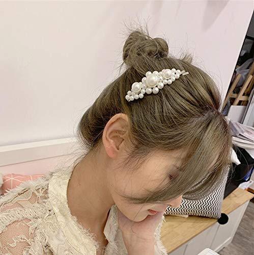 Milacolato 20-21 Pcs Pearl Hair Clips Artificial Pearl Hair Pins for Women Elegant Handmade Fashion Hair Accessories Pearl Hair Clips for Party Wedding Daily